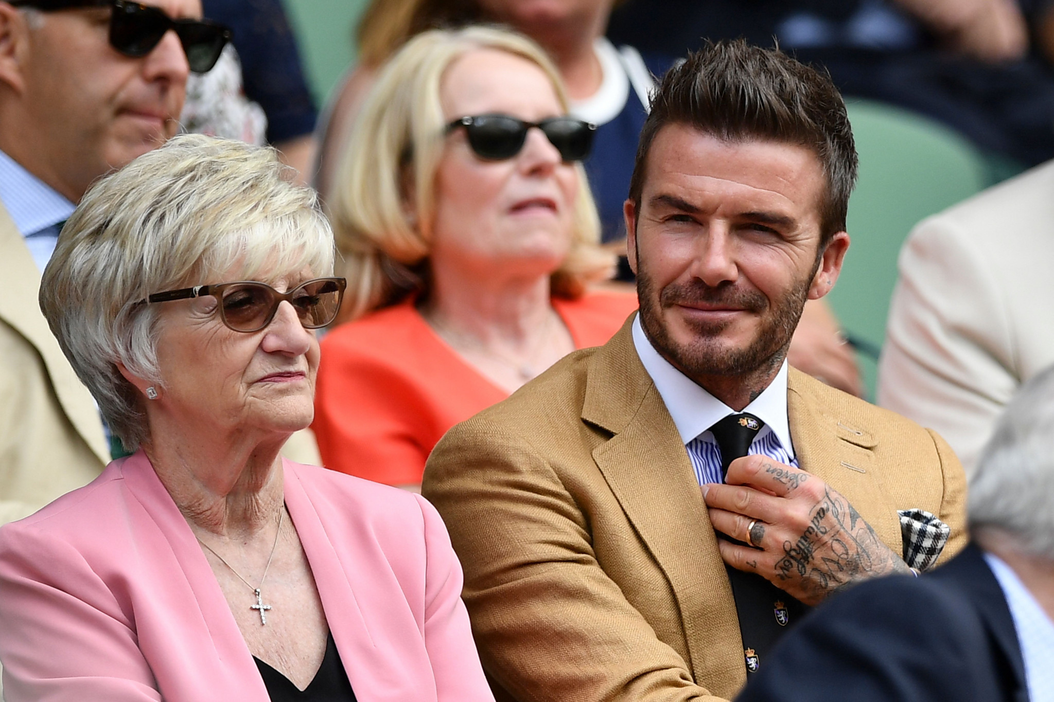 Former England football captain David Beckham was among those watching the match from the Royal Box ©Getty Images
