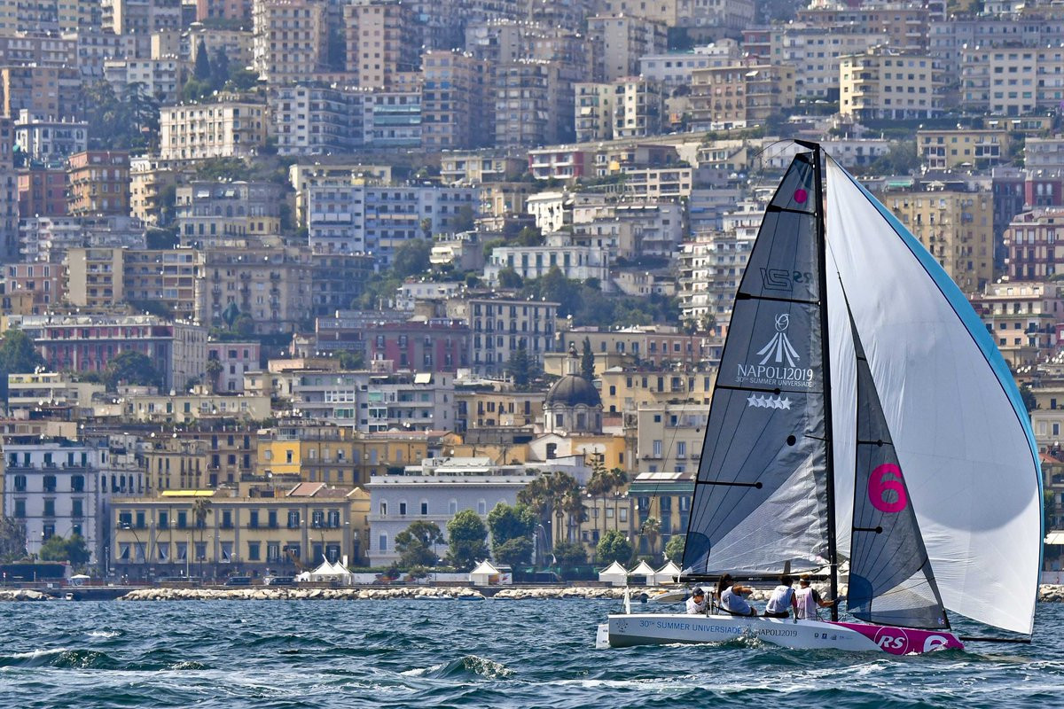 The sailing at the 2019 Summer Universiade is taking place in the Bay of Naples ©Naples 2019