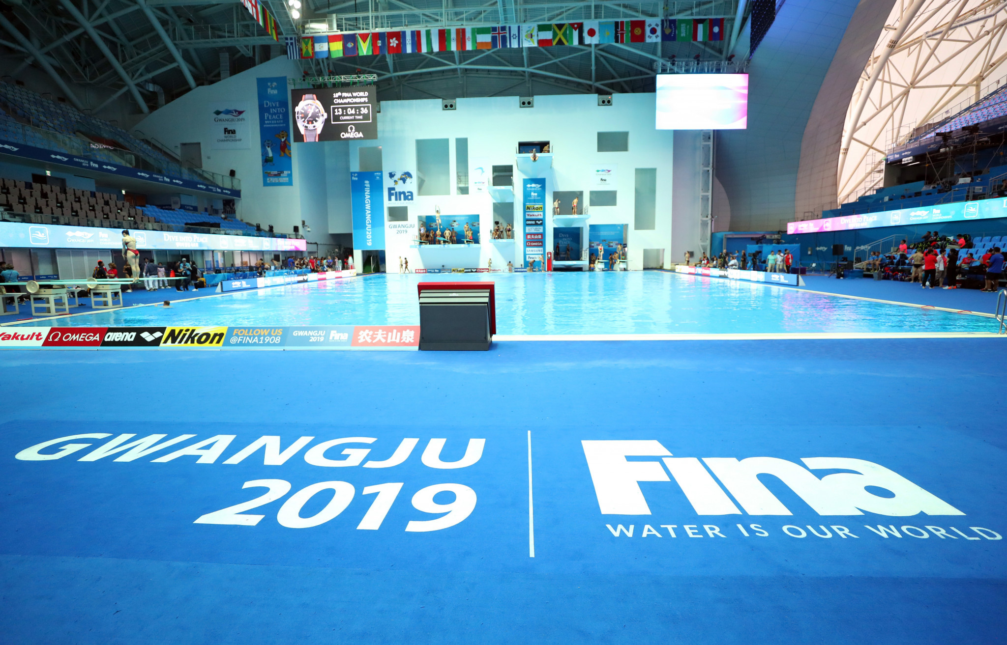 Largest-ever World Aquatics Championships poised to begin in Gwangju