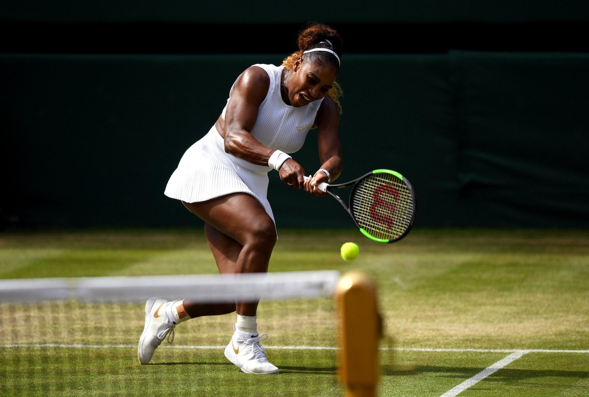 Seven-times champion Serena Williams powered into the final with an easy victory over Czech Republic's Barbora Strýcová ©Getty Images