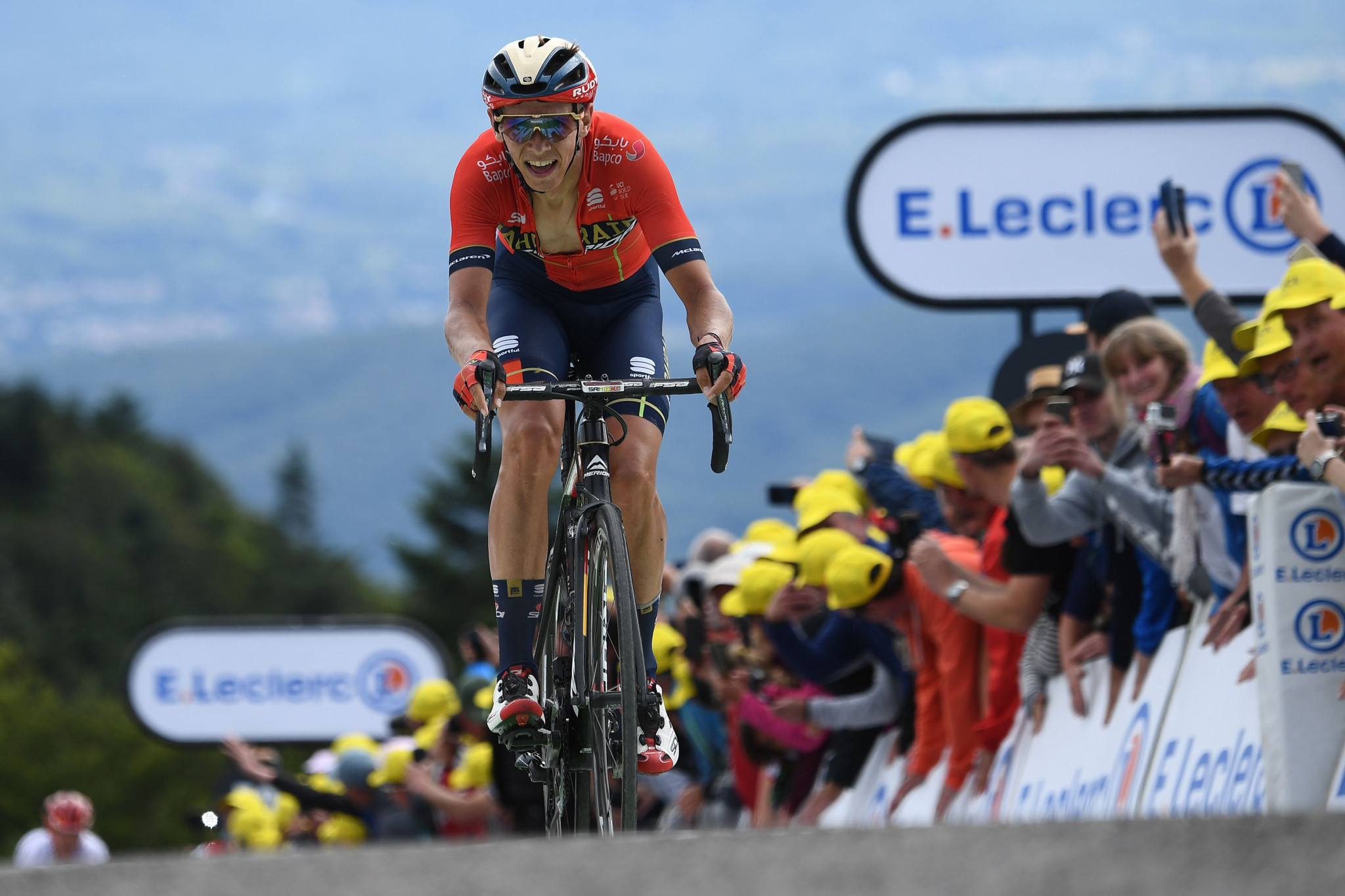 Teuns wins stage six of Tour de France as Ciccone takes overall lead