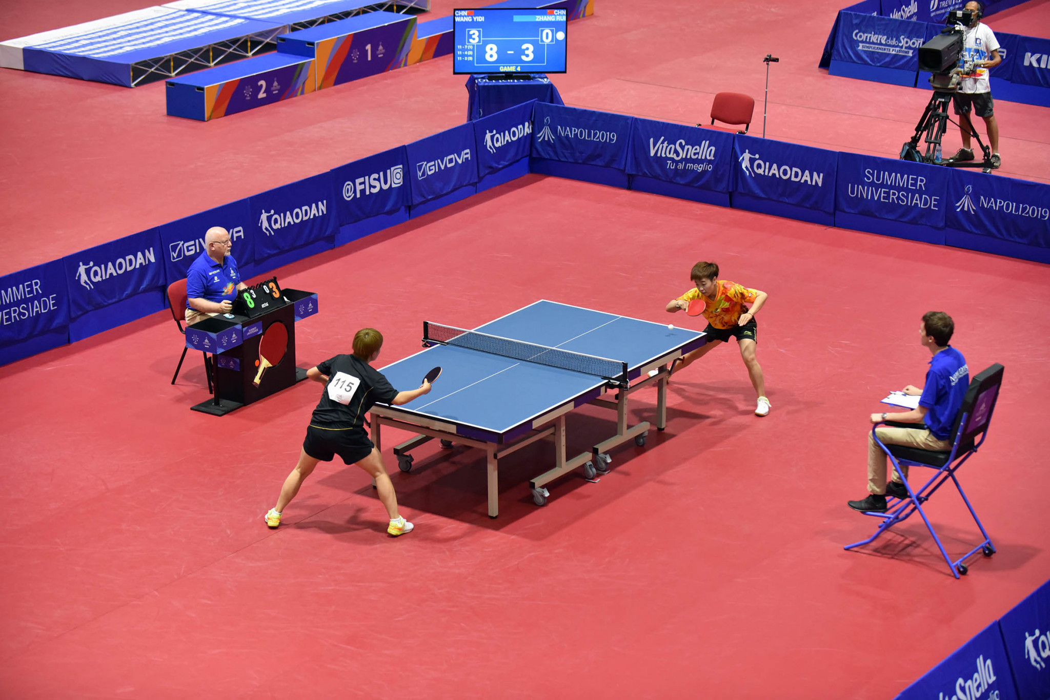 It was an all-Chinese affair in both the men's and women's table tennis singles finals ©Naples 2019