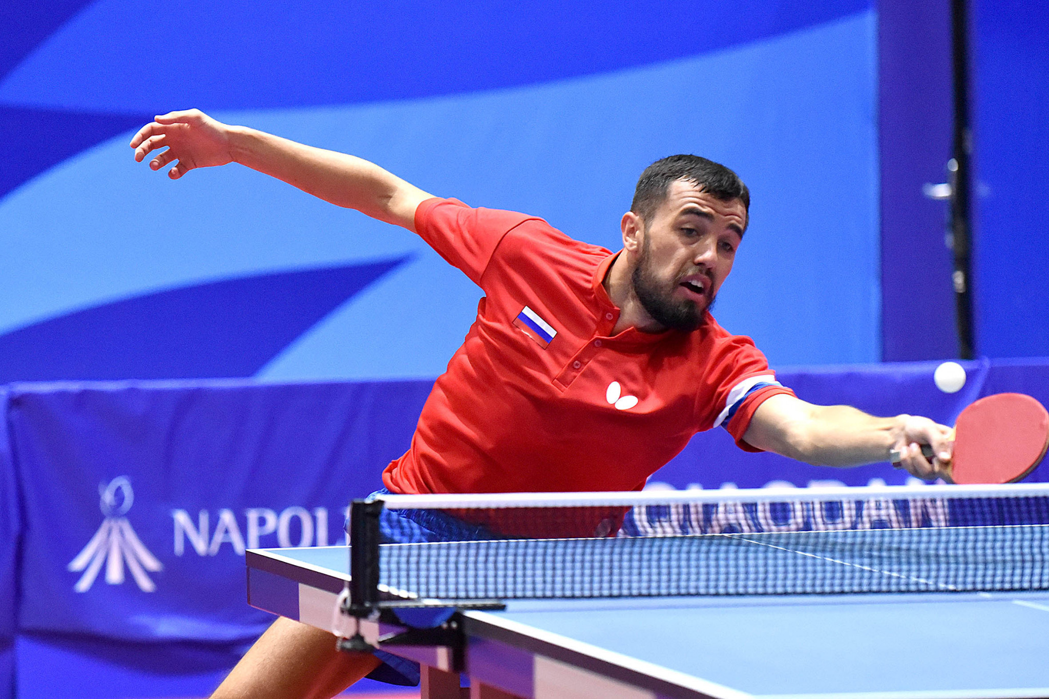 Russia's Said Ismailov was the only non-Chinese athlete to win a medal today, taking bronze in the men's singles ©Naples 2019