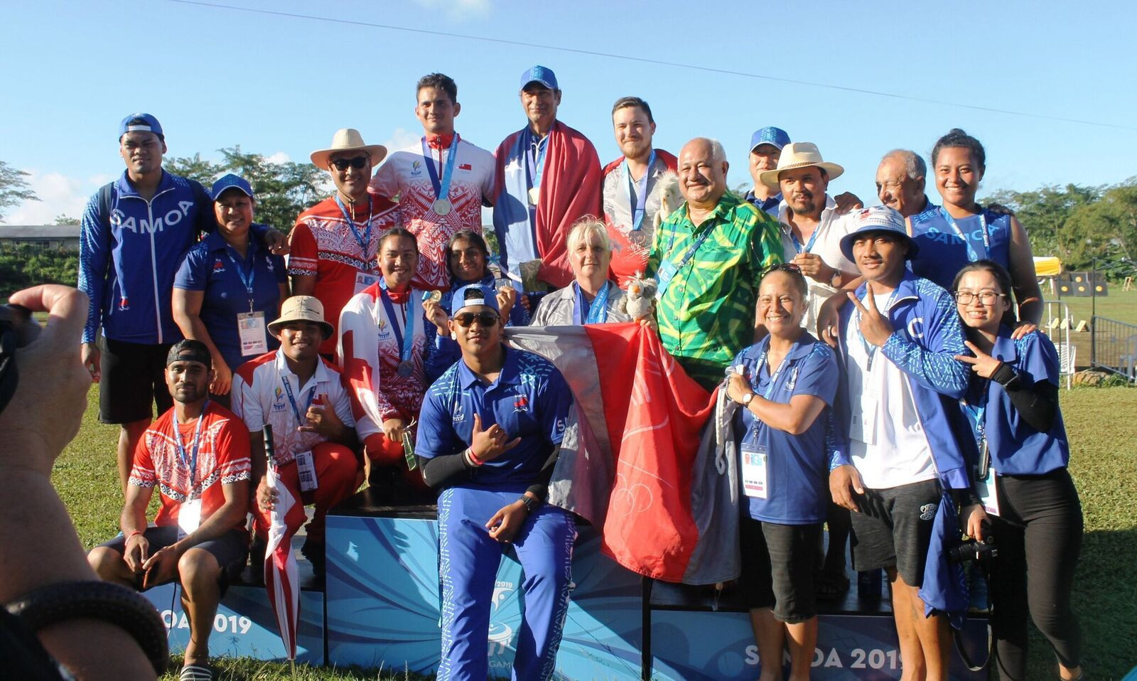 The final day of competition in the archery saw no less than 18 medals handed out ©Samoa 2019