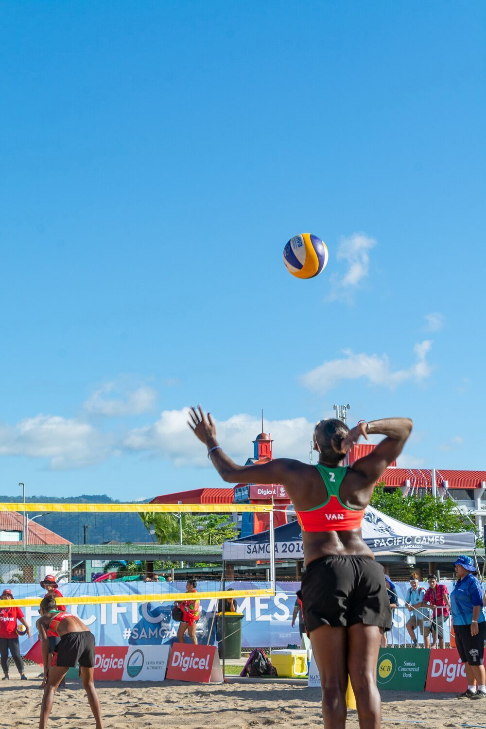 Vanuatu beat Tahiti in the women's beach volleyball final in blisteringly hot conditions ©Samoa 2019