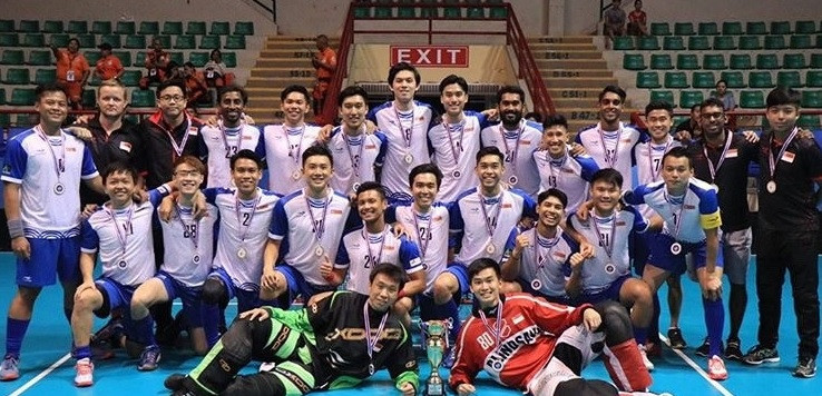 Singapore thrashed Thailand 17-1 to win the Men's Asia Oceania Floorball Confederation Cup ©IFF