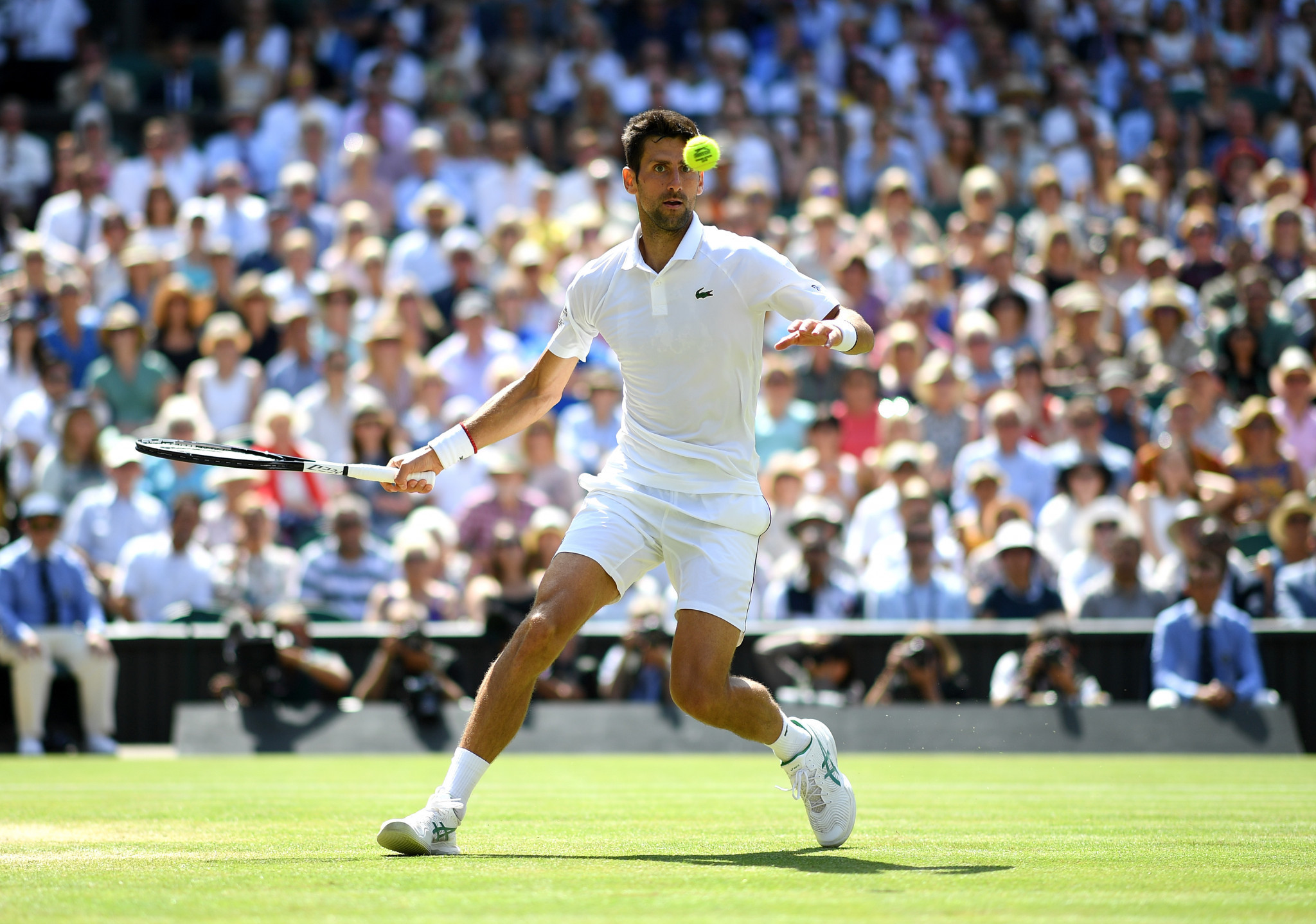 Djokovic threatened to run away with his semi-final against Roberto Bautista Agut ©Getty Images