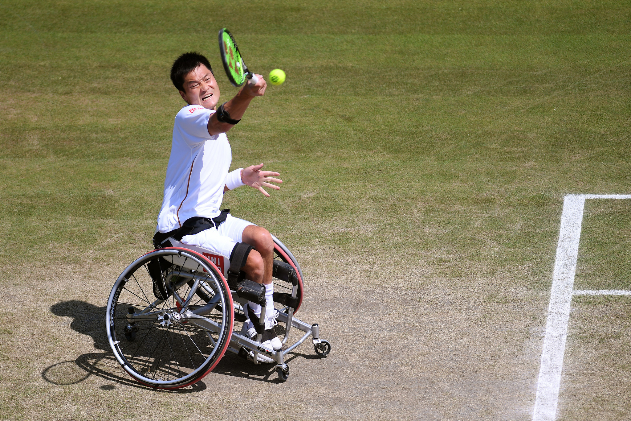 Japan's Shingo Kunieda is one win away from his first Wimbledon title ©Getty Images