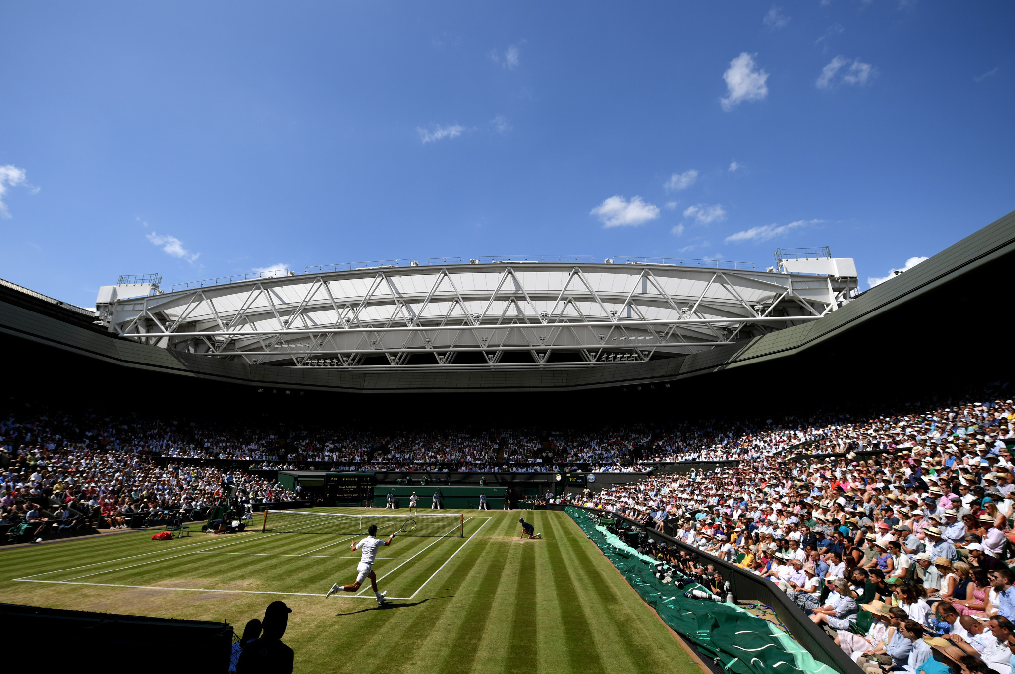 The stage was perfectly set for the two men's singles semi-finals ©Getty Images