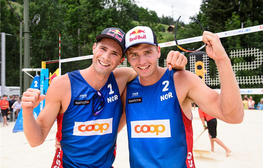 Holders Mol and Sørum through to semi-finals at FIVB Beach World Tour event in Gstaad