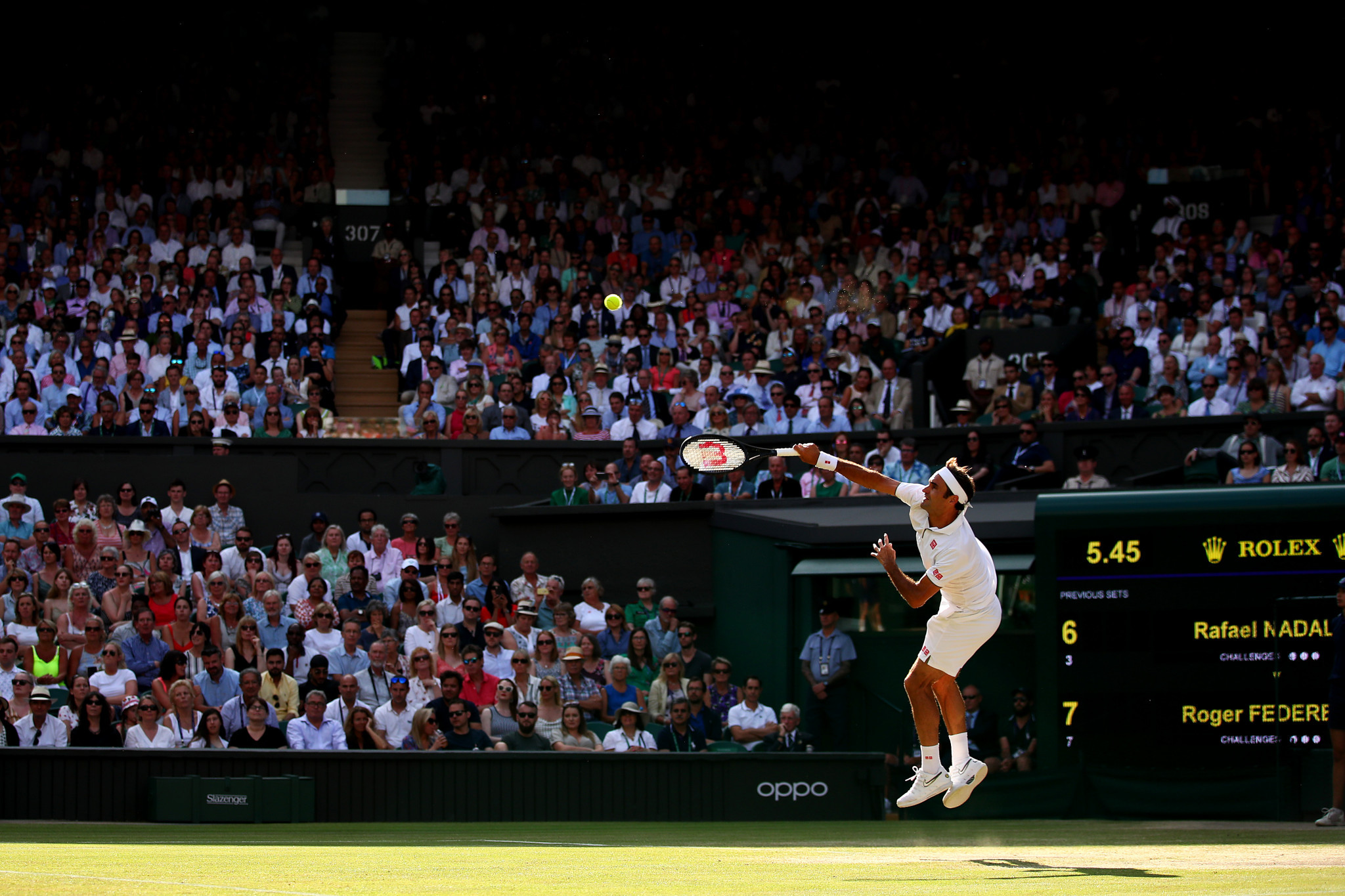 The Swiss maestro won a tense first set on a tiebreak ©Getty Images