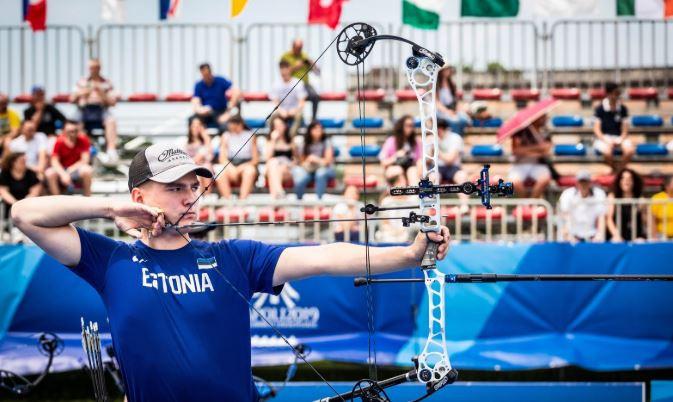 Estonia's Robin Jaatma was fully focused on his target in Caserta ©Naples 2019