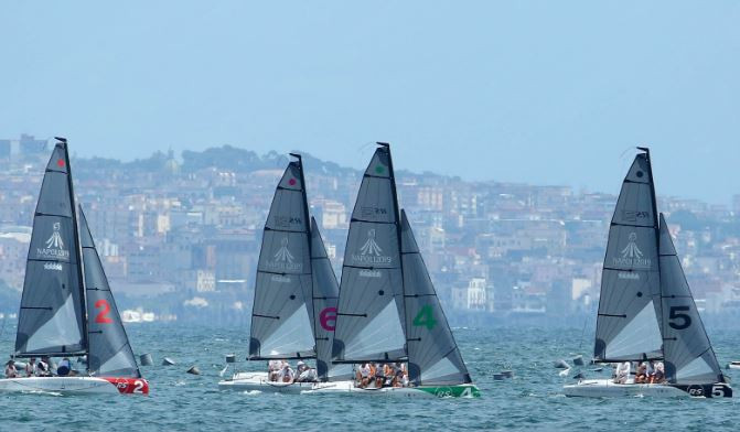 The sailing competition was held in the picturesque Bay of Naples ©Naples 2019