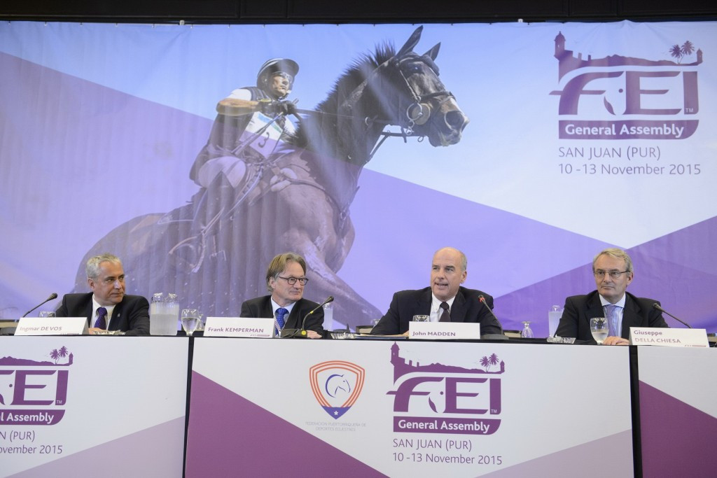 Teams would be capped at three riders under the current proposals ©FEI