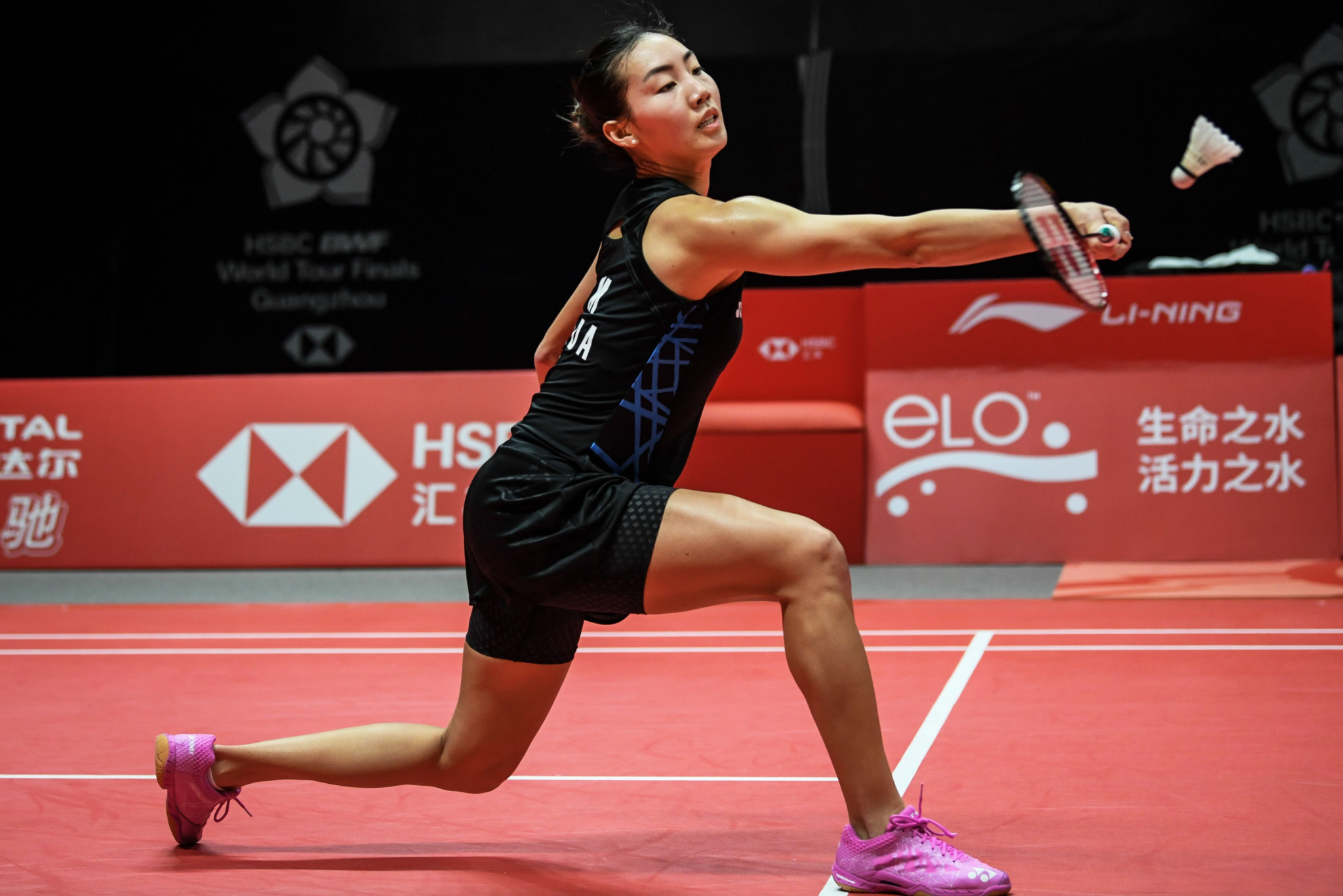 Michelle Li progressed to the last four of the women's singles at the BWF US Open ©Getty Images