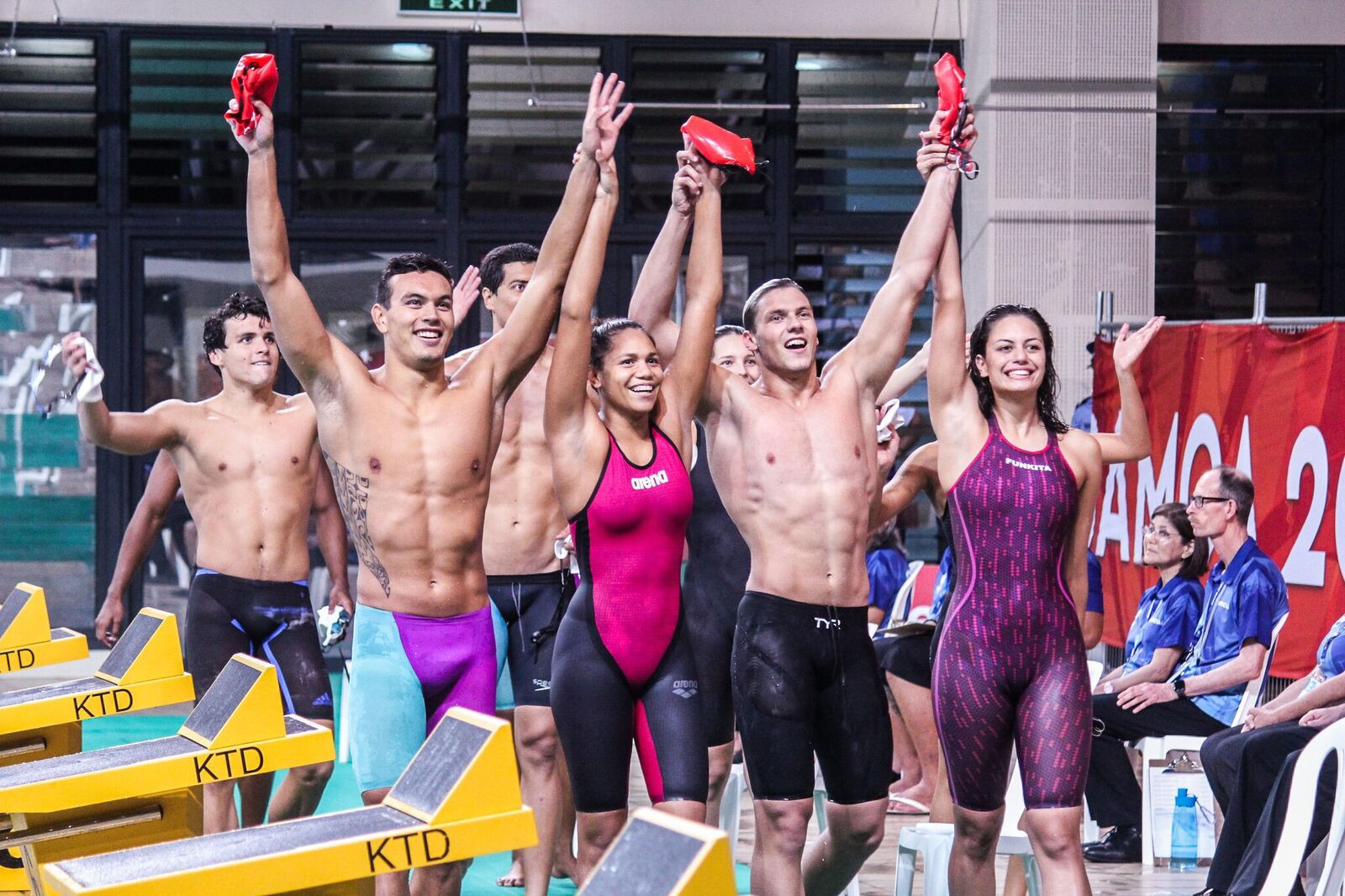 New Caledonia maintained their dominance at the Aquatics Centre ©Samoa 2019