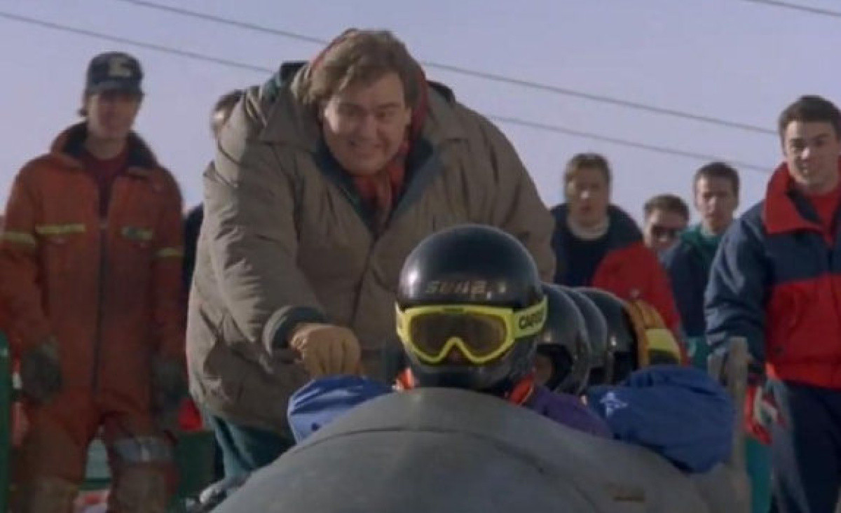 The coach in Cool Runnings – a disgraced American former bobsledder played by John Candy – could not have been further from Sepp Haidacher, a respected teacher renowned for his patience with youngsters ©Cool Runnings
