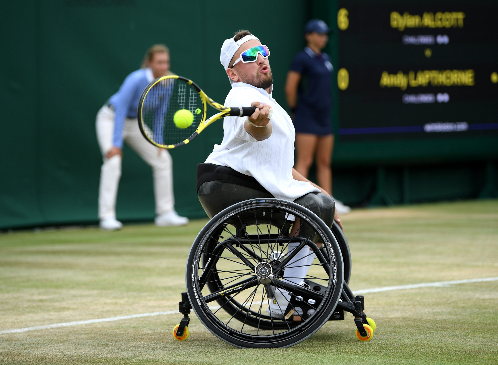 Alcott wins first quad wheelchair singles final at Wimbledon