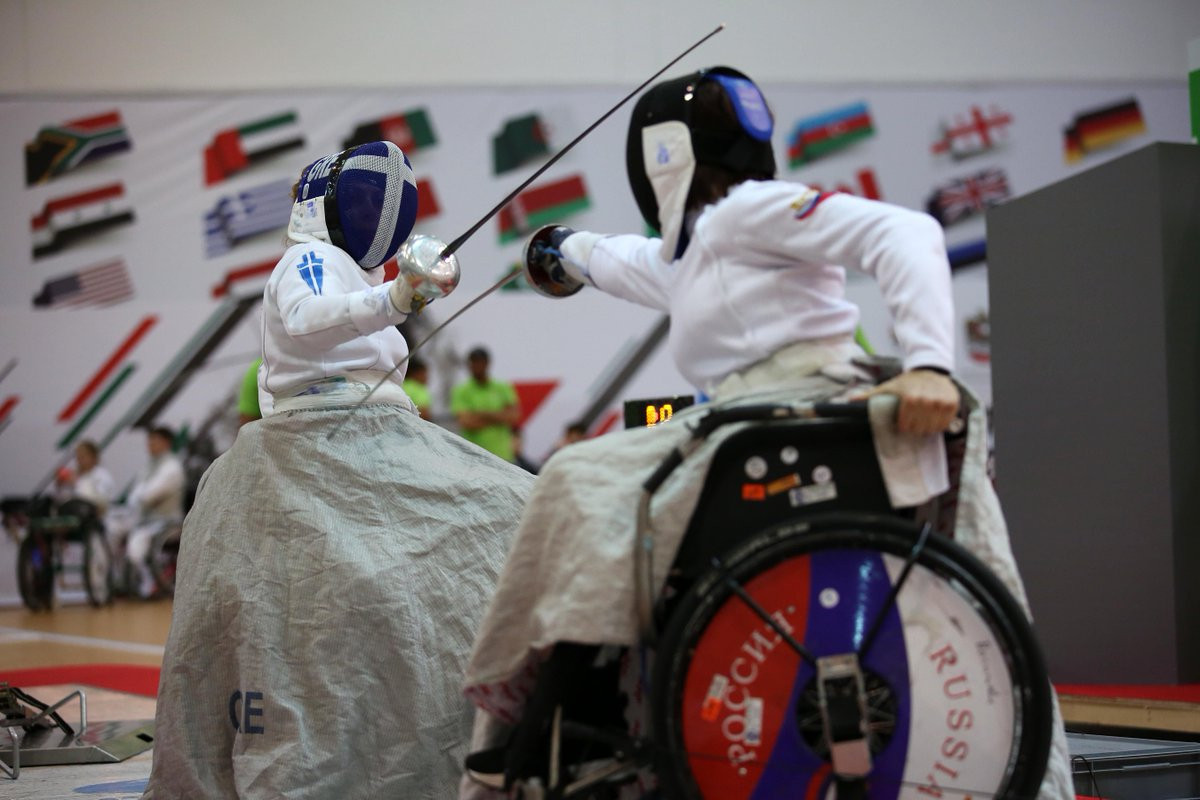 Action continued at the IWAS Wheelchair Fencing World Cup in Warsaw ©Twitter