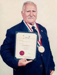 Karekin Simonian, a leading figure in bodybuilding, has died at the age of 86 ©Twitter