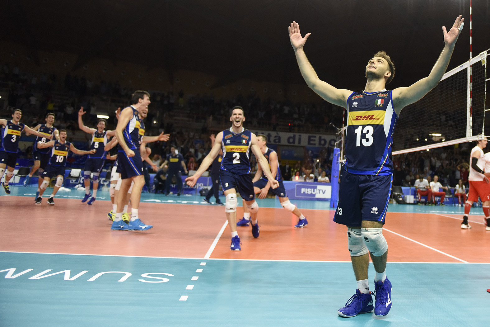 Italy thrilled the fans at the PalaSele in Eboli as they won the men's volleyball final ©Naples 2019
