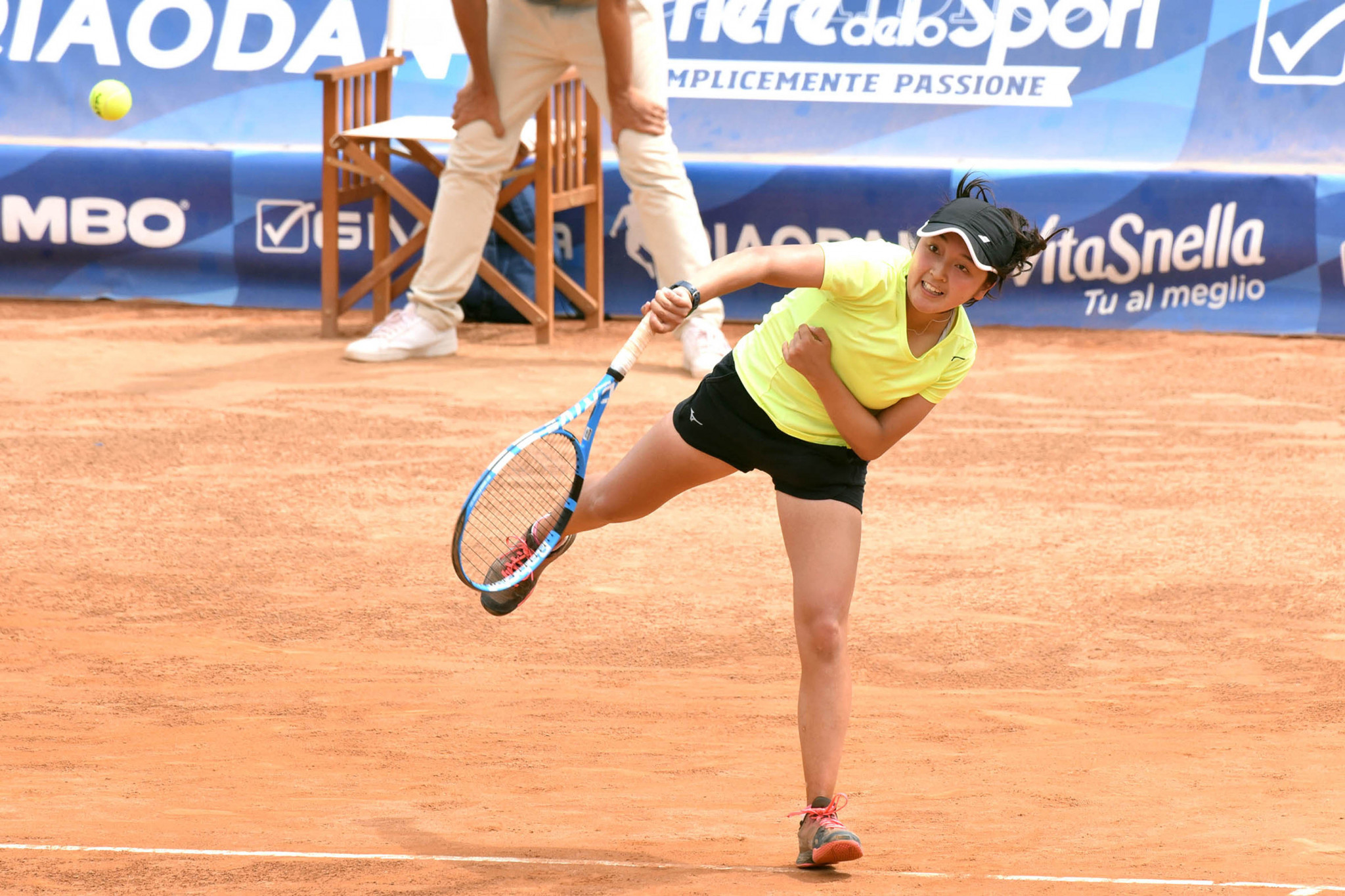 Japan's Naho Sato became the women's singles champion in tennis ©Naples 2019
