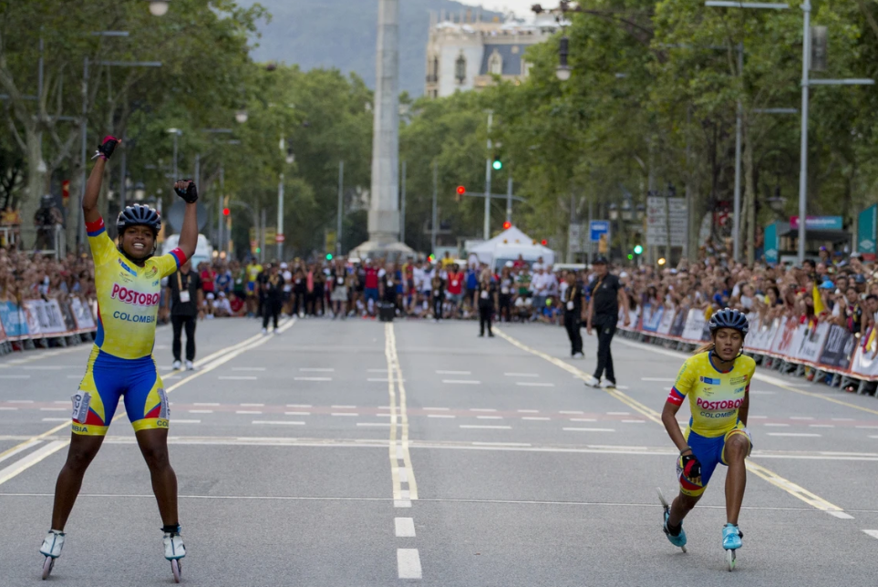 Speed sprint events took place on the streets of Barcelona  ©World Skate