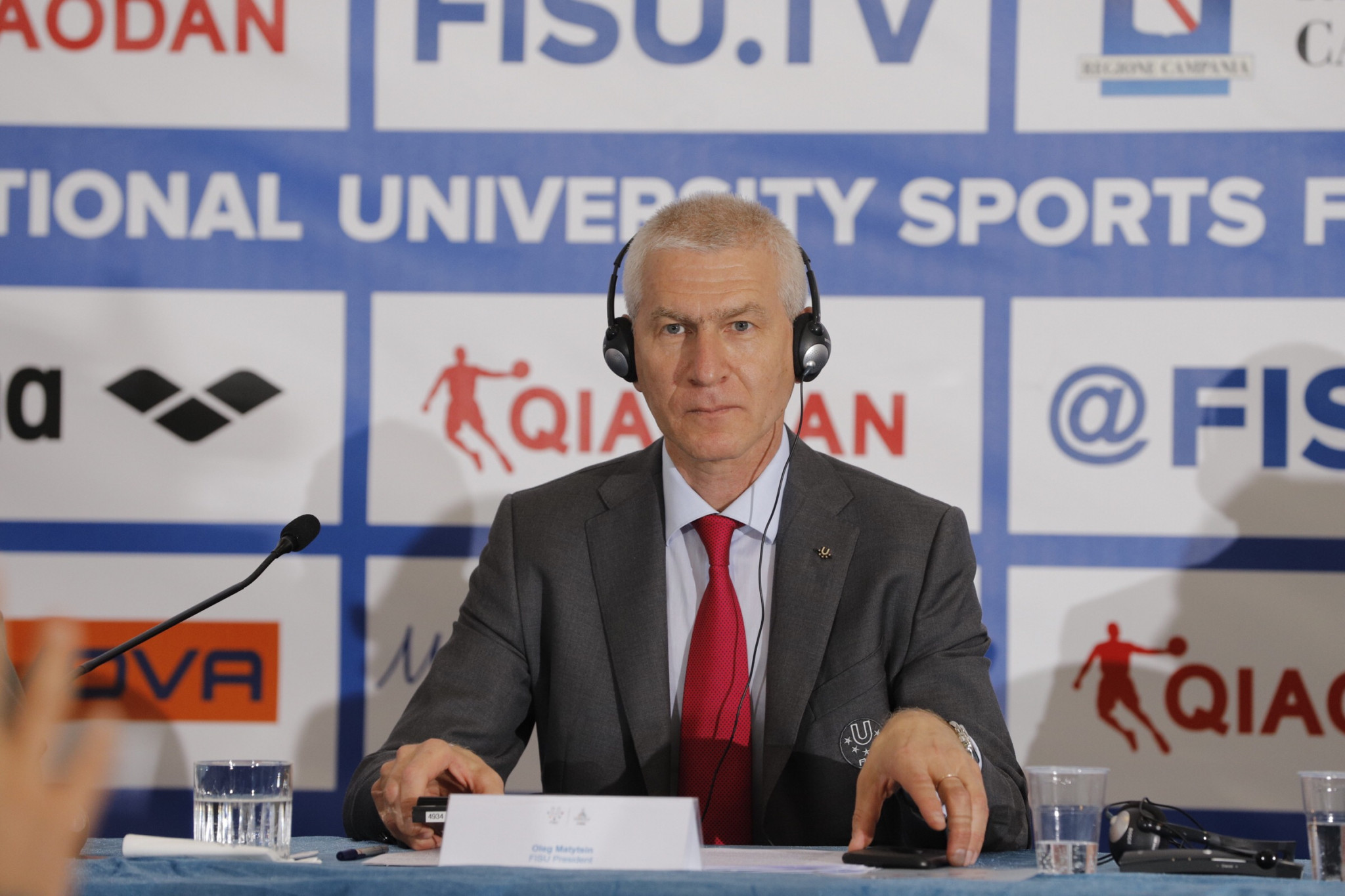 "FISU President Oleg Matytsin claimed the Naples 2019 Summer Universiade was ""unique"" ©FISU"