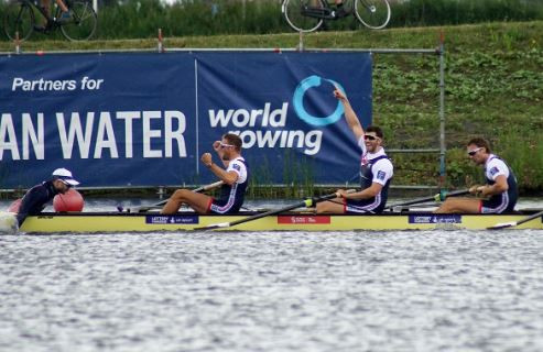 Britain inflict first defeat on Germany's men's eight since Rio 2016 at World Rowing Cup in Rotterdam