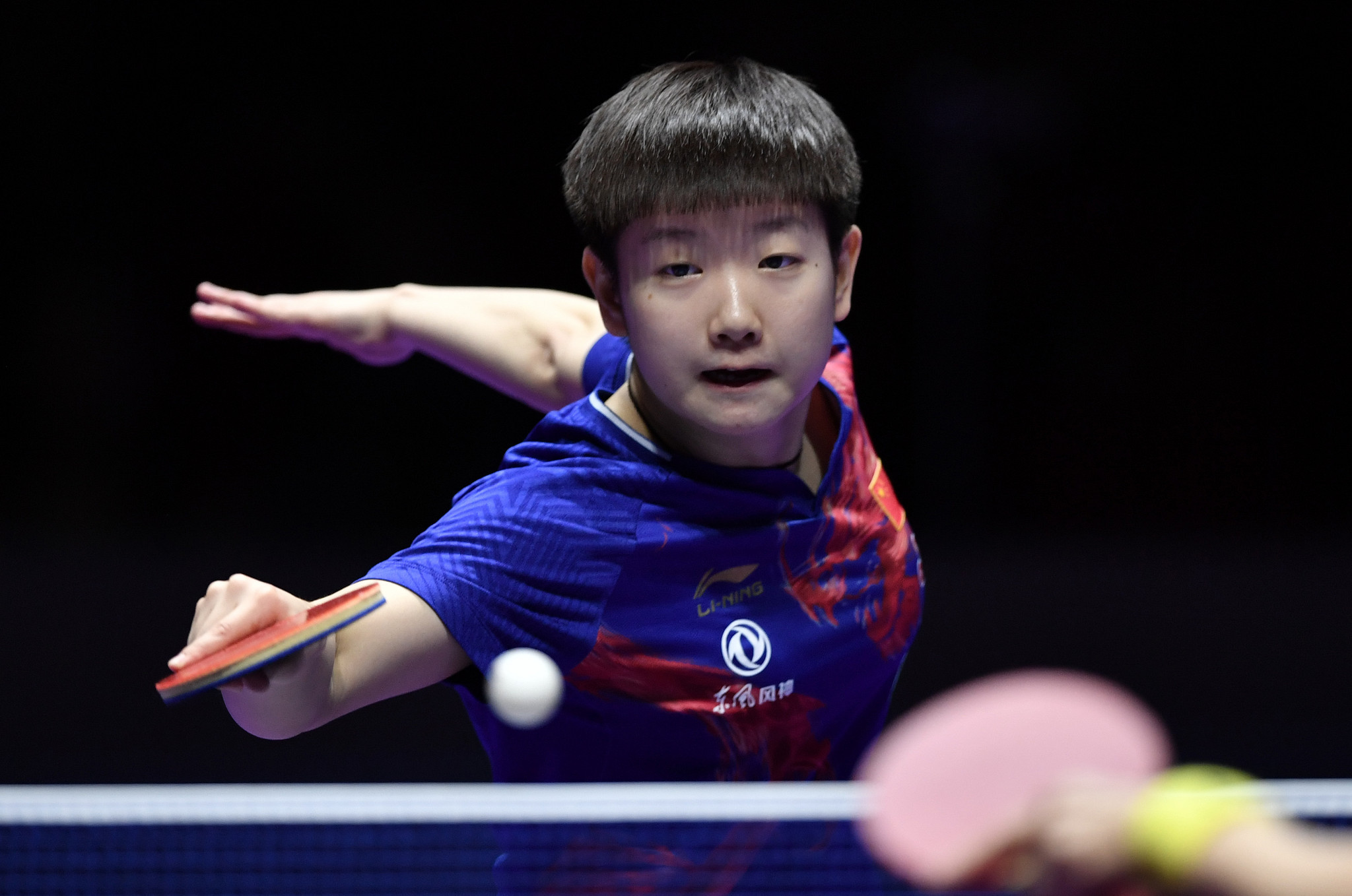 Sun Yingsha won the women's event with a straight games success over Olympic champion Ding Ning ©Getty Images
