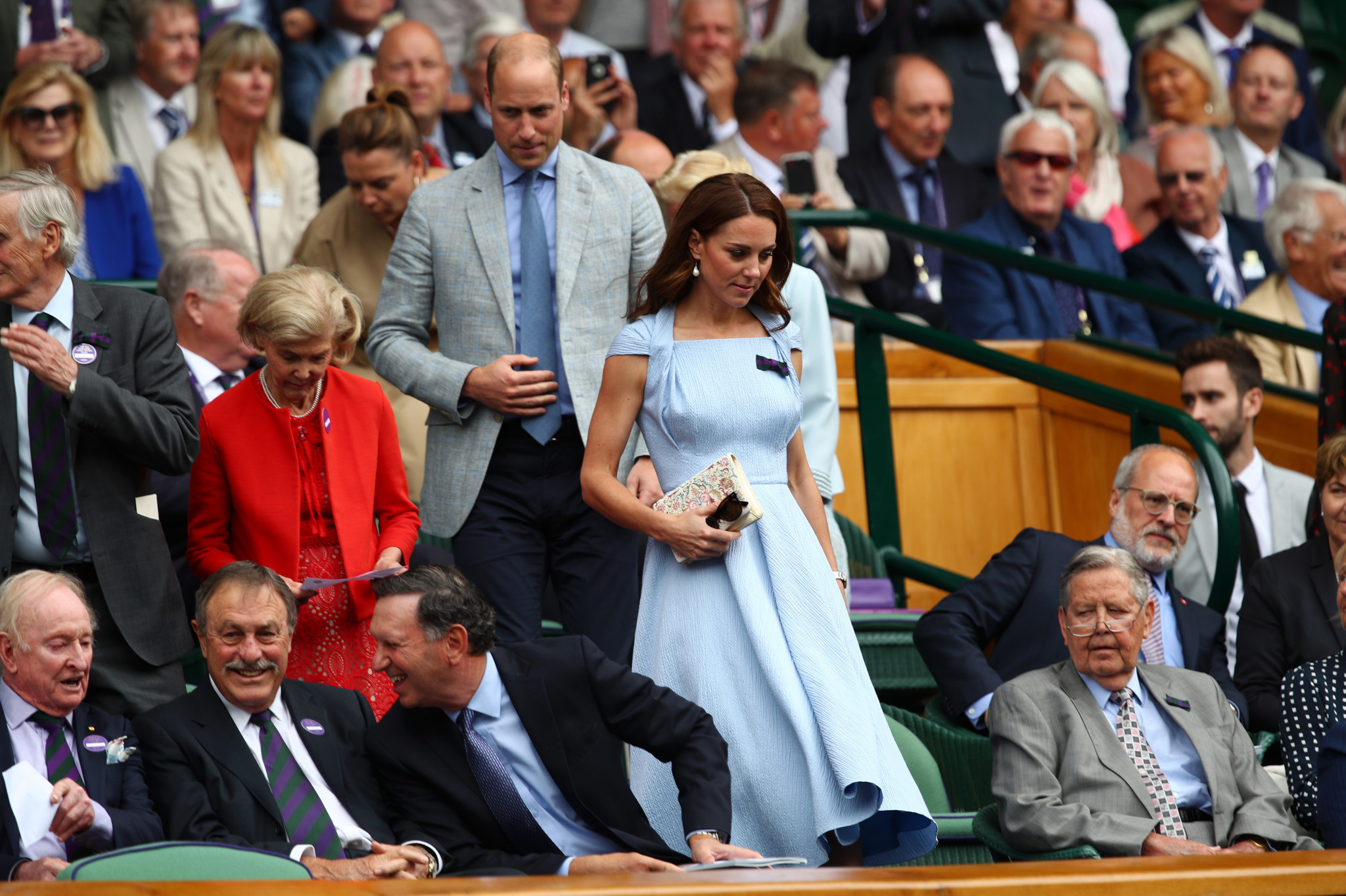 Catherine, Duchess of Cambridge and Prince William, Duke of Cambridge watched the contest from the Royal Box ©Getty Images
