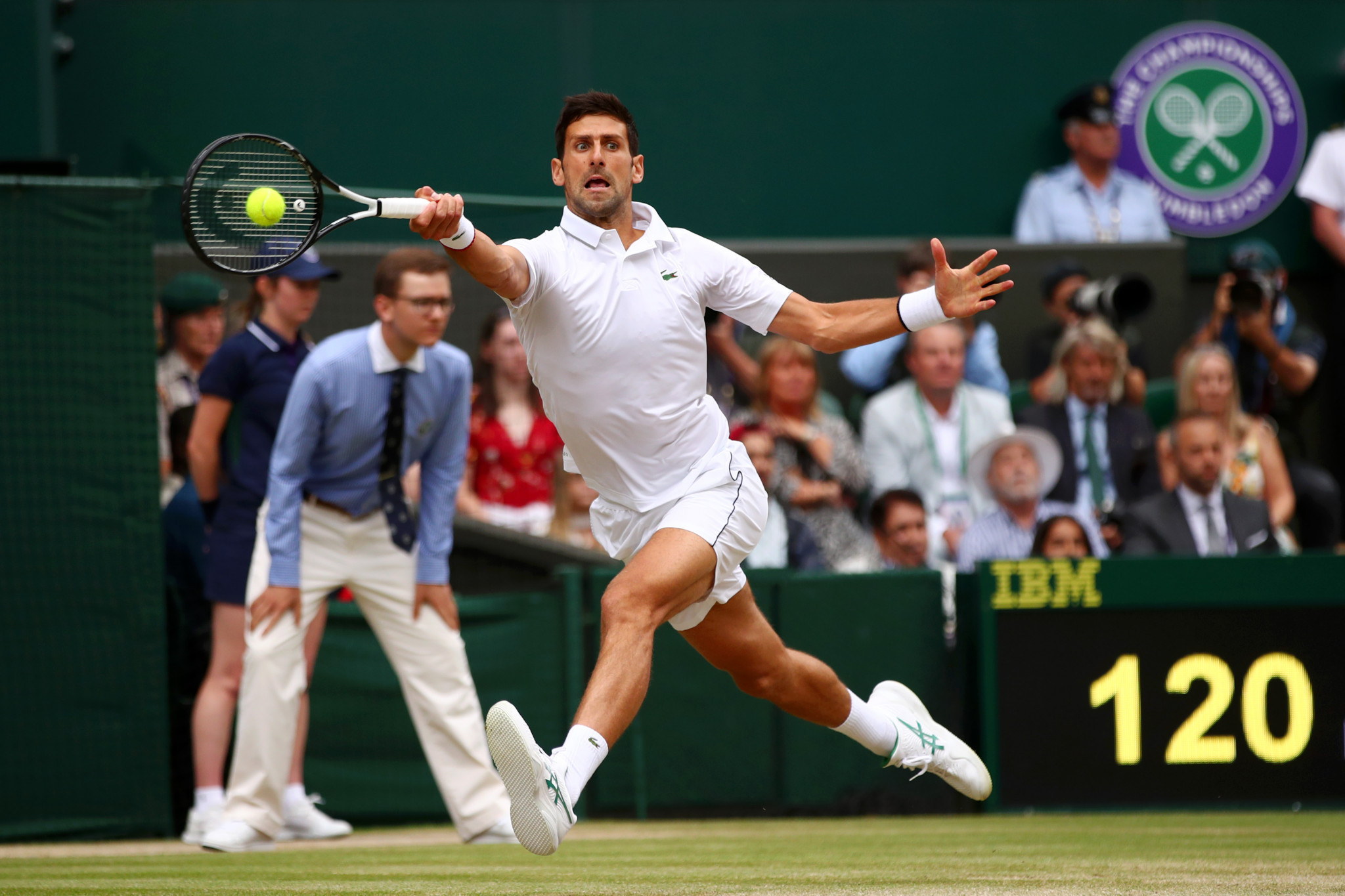 Djokovic was quickly at full throttle against his Swiss rival ©Getty Images