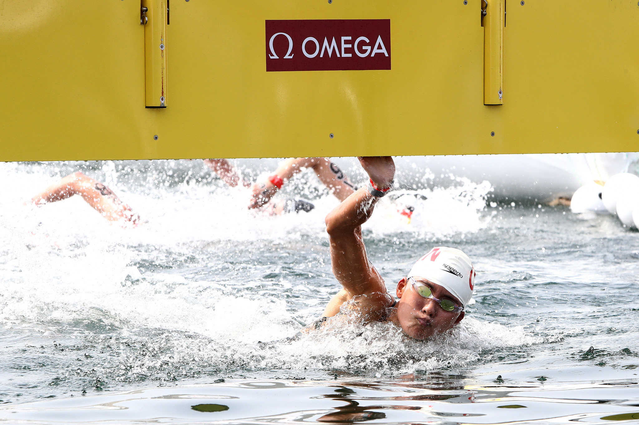 Xin Xin won China's first world title in open water swimming ©Getty Images