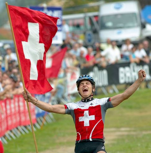 Nerveless Schurter supreme again in cross country at UCI Mountain Bike World Cup