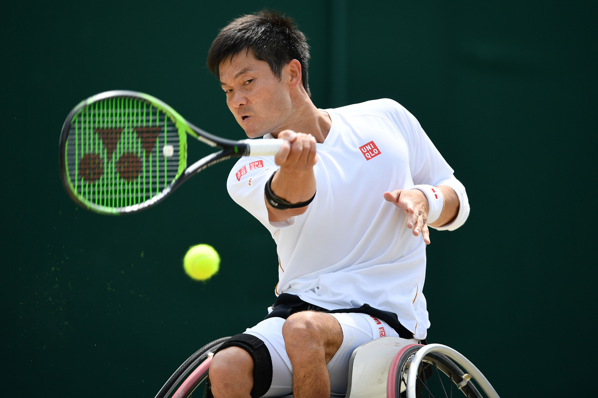 Shingo Kunieda, the world number one, took the first set but could not see out victory ©Getty Images