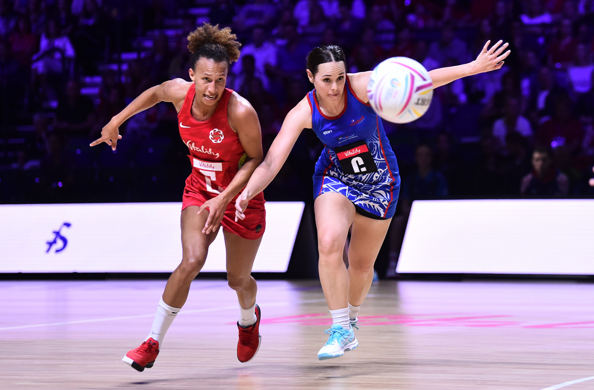 England thrashed Samoa 90-24 to finish top of Group D at the Netball World Cup in Liverpool ©Getty Images