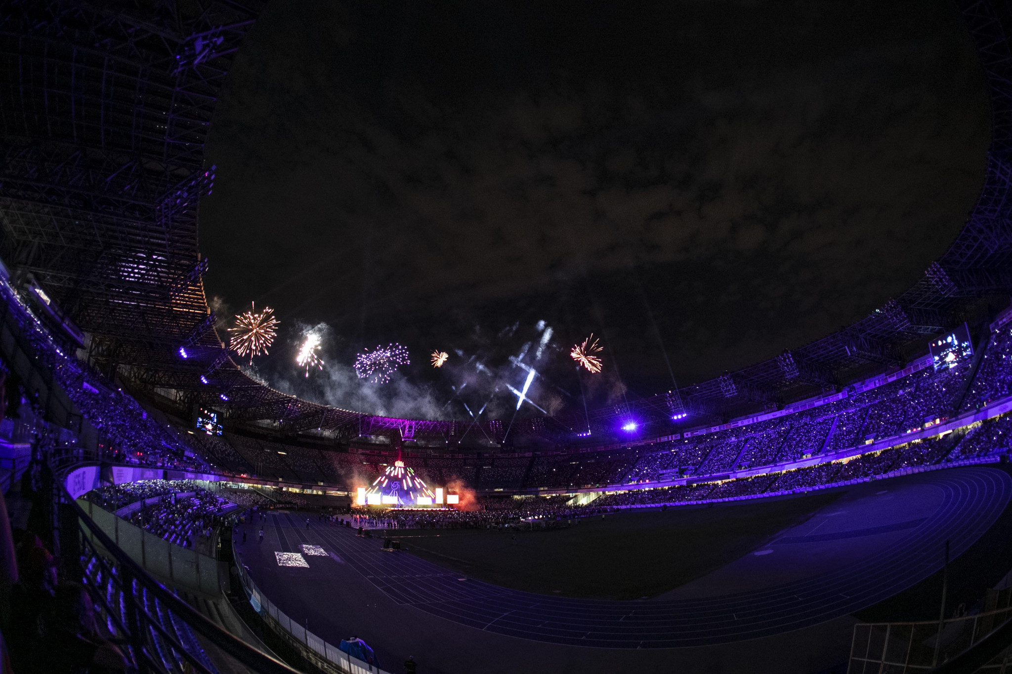 Fireworks then marked the end of the Closing Ceremony and the 2019 Summer Universiade ©Naples 2019