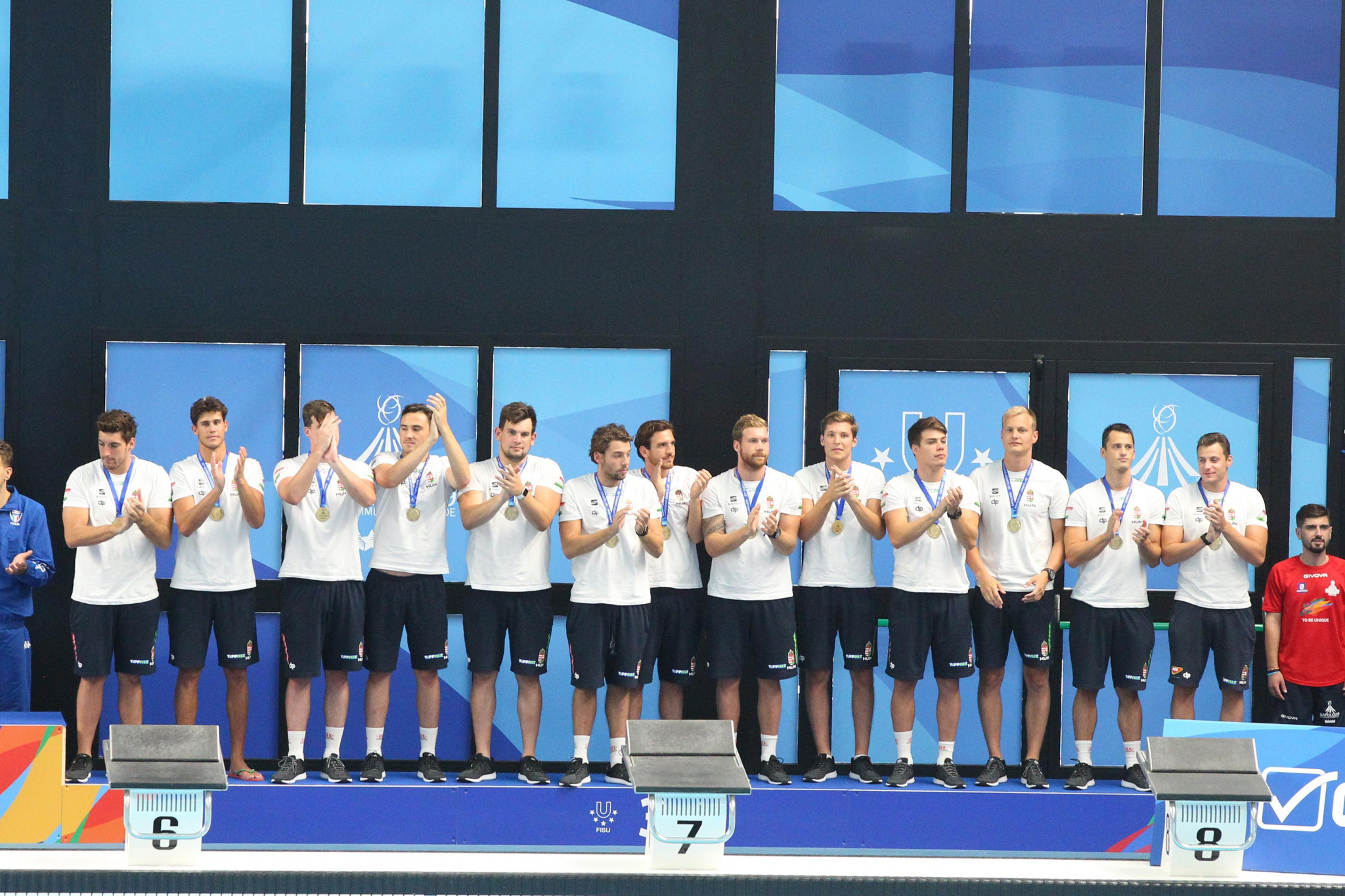 Hungary finished with bronze after a shootout victory against Russia ©Naples 2019