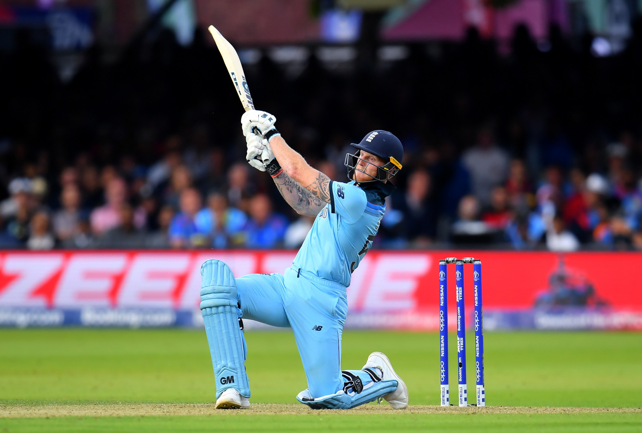 England appeared to be heading for defeat after losing four early wickets until Ben Stokes hit 84 to help them tie with New Zealand and setting up the dramatic super over ©Getty Images