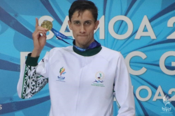 Cook Islands won their first-ever swimming gold at the Pacific Games, with Wesley Roberts victorious in the men's 200m freestyle event ©Pacific Games News Service