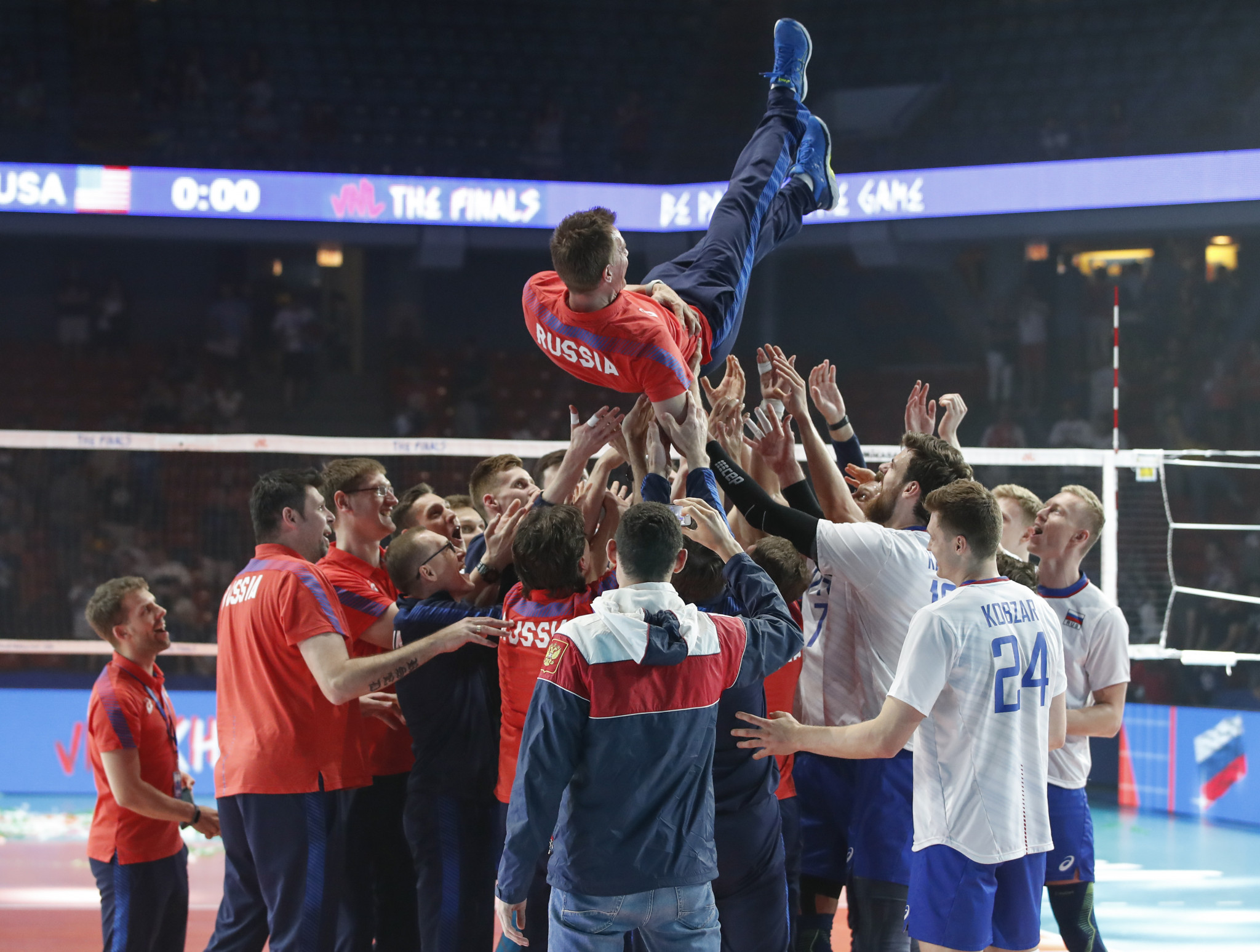 Russia defend FIVB Men's Nations League title after final victory over hosts United States