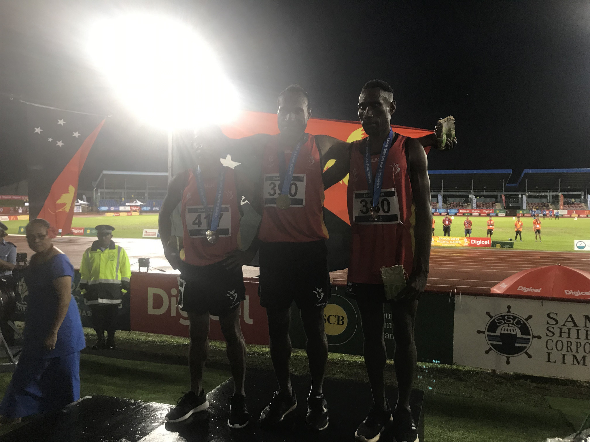 Papua New Guinea fill podium in men's steeplechase amid strong start to 2019 Pacific Games athletics