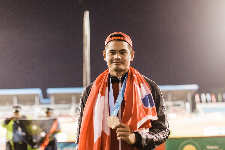 Felise Vahai Sosaia won the men's javelin for Wallis and Futuna ©Games News Service