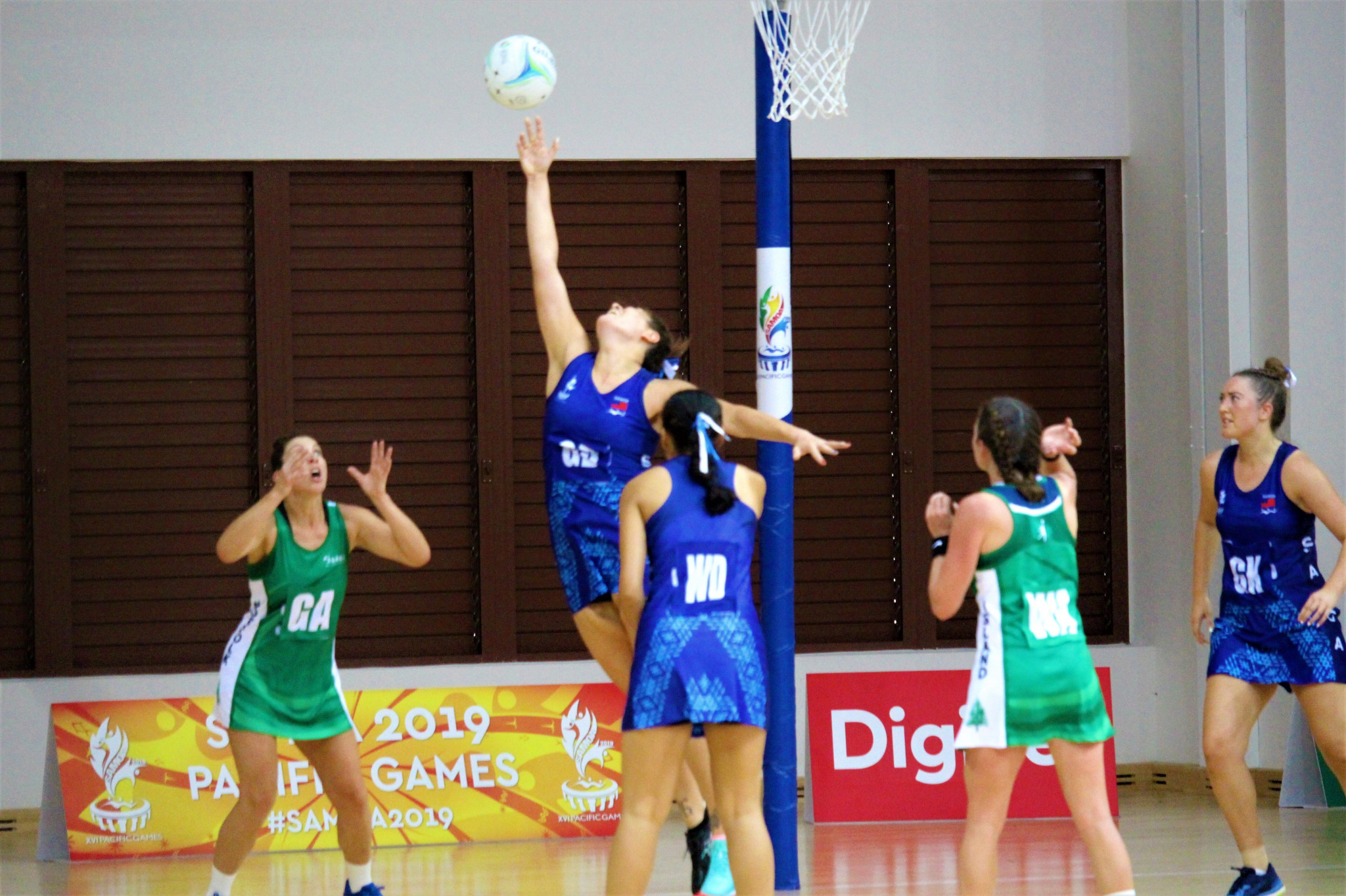 The multi-sport centre hosted the latest netball matches ©Pacific Games News Service