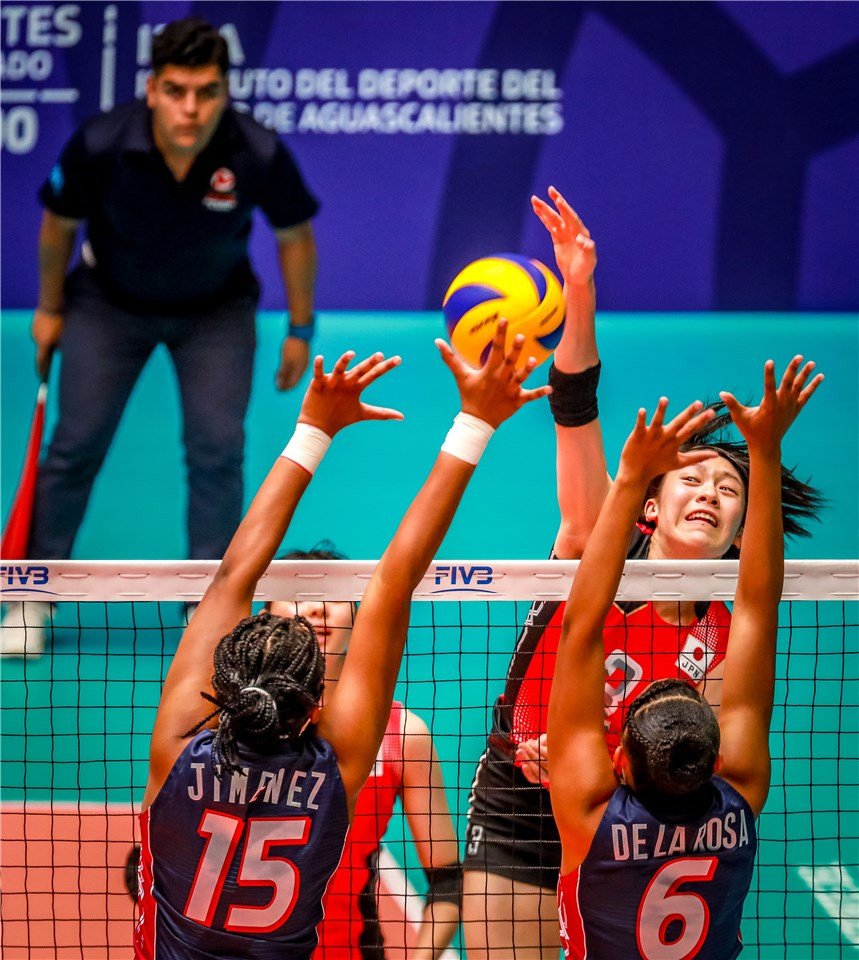 Japan defeated the Dominican Republic in straight sets today ©FIVB