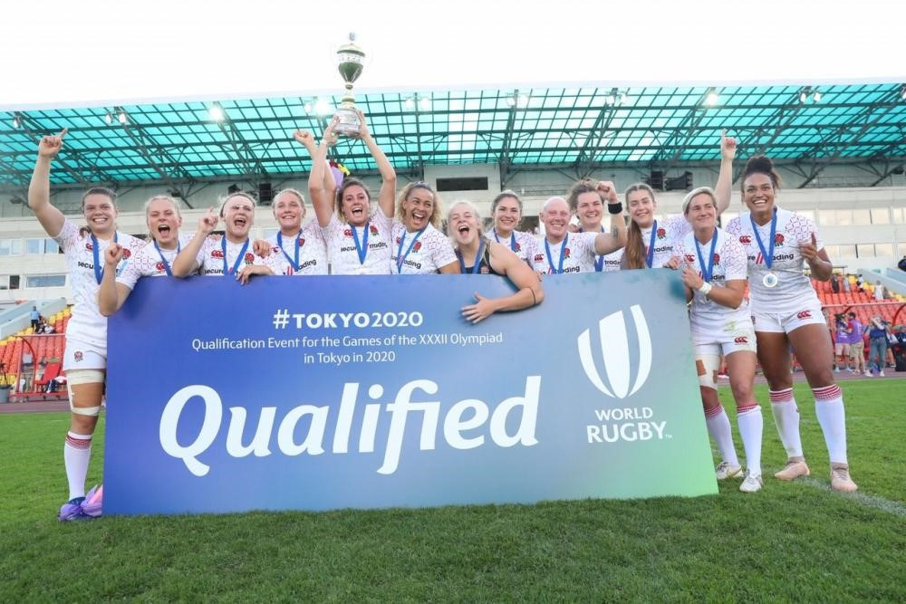 The England women's team were crowned as winners in Russia ©World Rugby