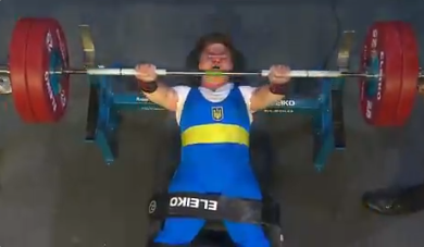 World record holder Shevchuk takes gold at World Para Powerlifting Championships