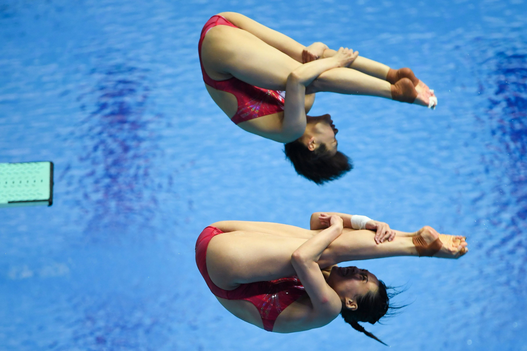 Wang Han and Shi Tingmao added to China's diving dominance in Gwangju ©Getty Images
