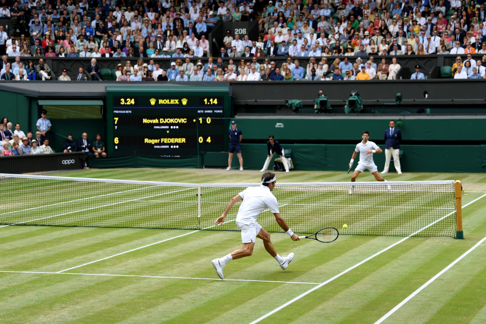 Novak Djokovic beat Roger Federer in an epic Wimbledon final ©Getty Images