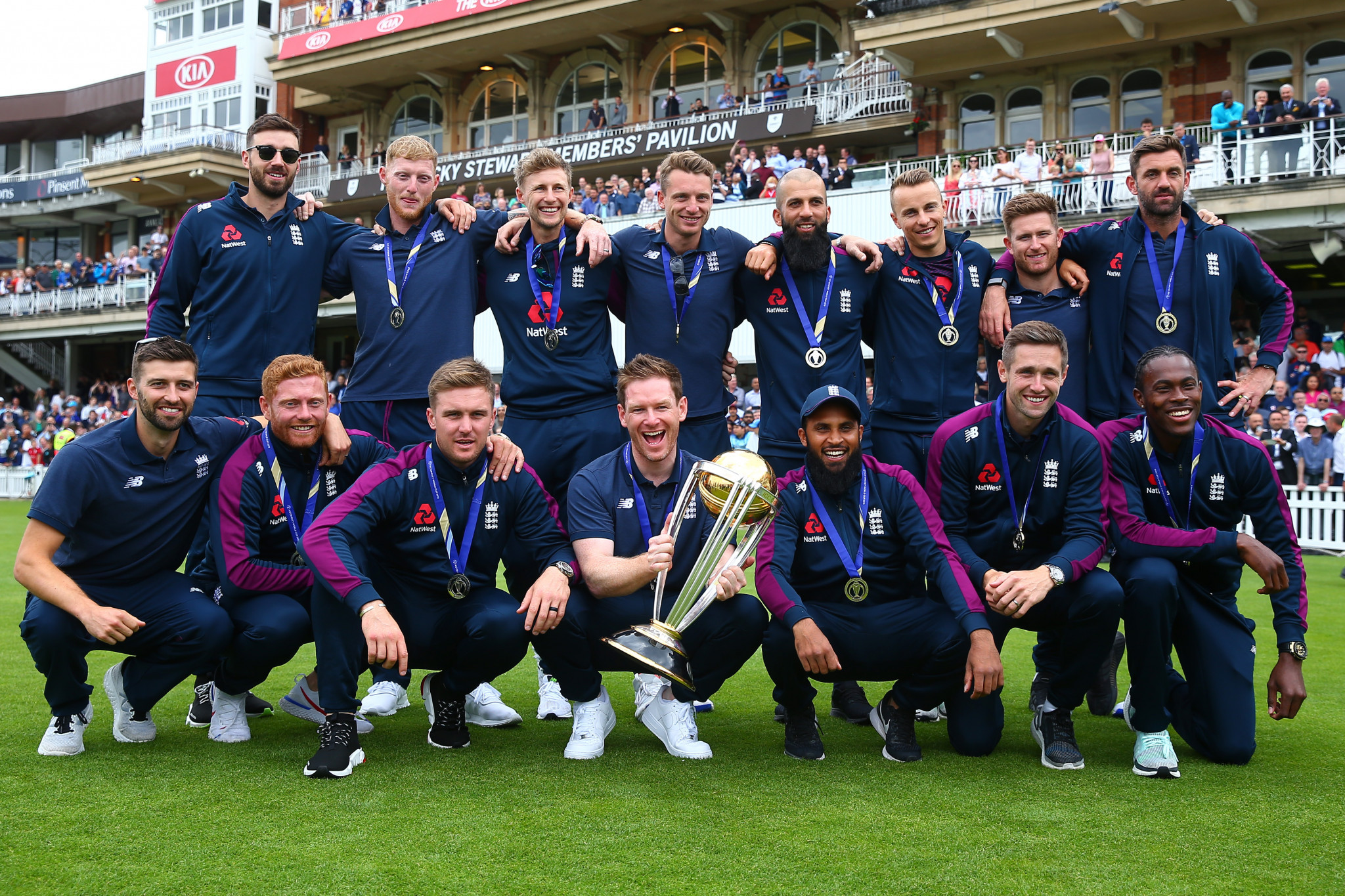 England celebrate winning the Cricket World Cup final against New Zealand ©Getty Images